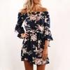 Femmes-Robe-Fleur-Mode