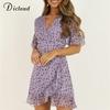 Dicstrong-femmes-lilas-ch-le-fleurs-robe-t-l-gant-Flare-manches-Boho-impression-Mini-robe