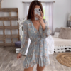 Robe-courte-fleurie-portefeuille-femme