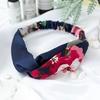 Femmes-bandeau-r-tro-Haarband-croix-noeud-lastique-bandes-de-cheveux-doux-imprim-Floral-filles-bandeau