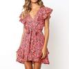Aachoae-robe-t-2020-femmes-imprim-fleuri-ceintures-robe-de-plage-Boho-volants-a-ligne-Mini