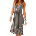 Sans-manches-imprim-Floral-l-che-Robe-d-t-mode-Six-couleurs-d-contract-femmes-Robe