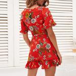 Mini-robe-fleurs-rouge