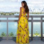 Longue-robe-fleurie-jaune