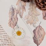 8-SAISONS-Main-Boho-Transparent-R-sine-S-ch-e-Fleur-Marguerite-Collier-Boule-Cha-ne