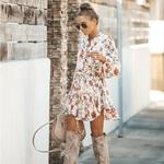 robe-imprimé-floral-courte