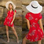 robe-imprimé-fleuri-rouge