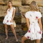 robe-imprimé-fleuri-blanc