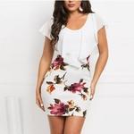 Mini-robe-fleurie-sexy-banche