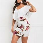 Mini-robe-fleurie-moulante-blanche