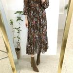 robe-a-fleurs-marron