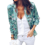 veste-a-fleurs-verte