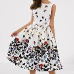 robe-mi-longue-fleurie-blanche