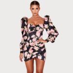 robe-courte-fleurie-moulante-sexy