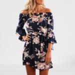 robe-courte-fleurie-bleue-rose