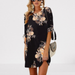 robe-courte-imprimé-fleurie