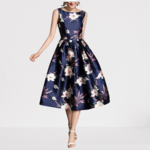 robe-mi-longue-a-fleurs-bleue