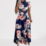robe-longue-a-fleurs-bleue-rose