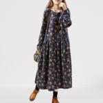 robe-longue-fleurie-hiver