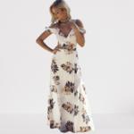 robe-longue-fleurie-fendue-blanche