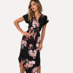 robe-fleurie-noire-femme