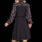 robe-fleurie-hiver-noire