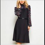 robe-fleurie-longue-noire