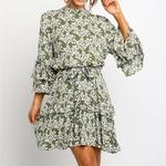 Robe-fleurie-courte-mode