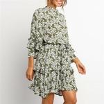 Robe-fleurie-courte-ceinture