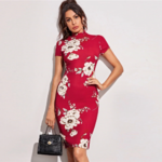 robe-midi-moulante-rouge