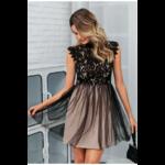 robe-courte-fleurie-dentelle-noire