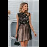 robe-courte-fleurie-dentelle