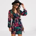 robe-mini-fleurie-moulante