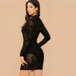 robe-imprimé-fleuri-noire