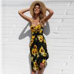 robe-midi-fleurie-jaune-noire