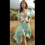 robe-fleurie-chic-verte-vintage