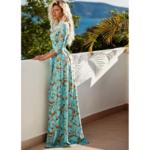 robe-maxi-fleurie-bleue