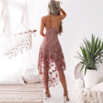 robe-fleurie-rose-courte