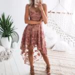 robe-fleurie-rose-dentelle