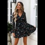 robe-fleurie-bleue-courte