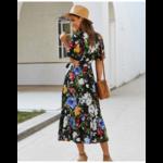 robe-midi-fleurie-noire