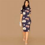 robe-midi-fleurie-femme
