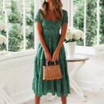 robe-de-plage-verte
