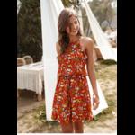 robe-a-fleurs-rouge-volants