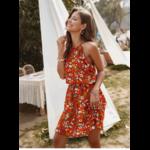 robe-a-fleurs-rouge-courte