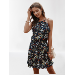 robe-a-fleurs-bleue-licou