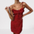 robe-fleurie-courte-rouge