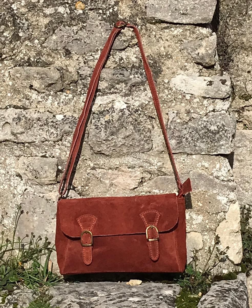 Petit sac Cartable terracotta