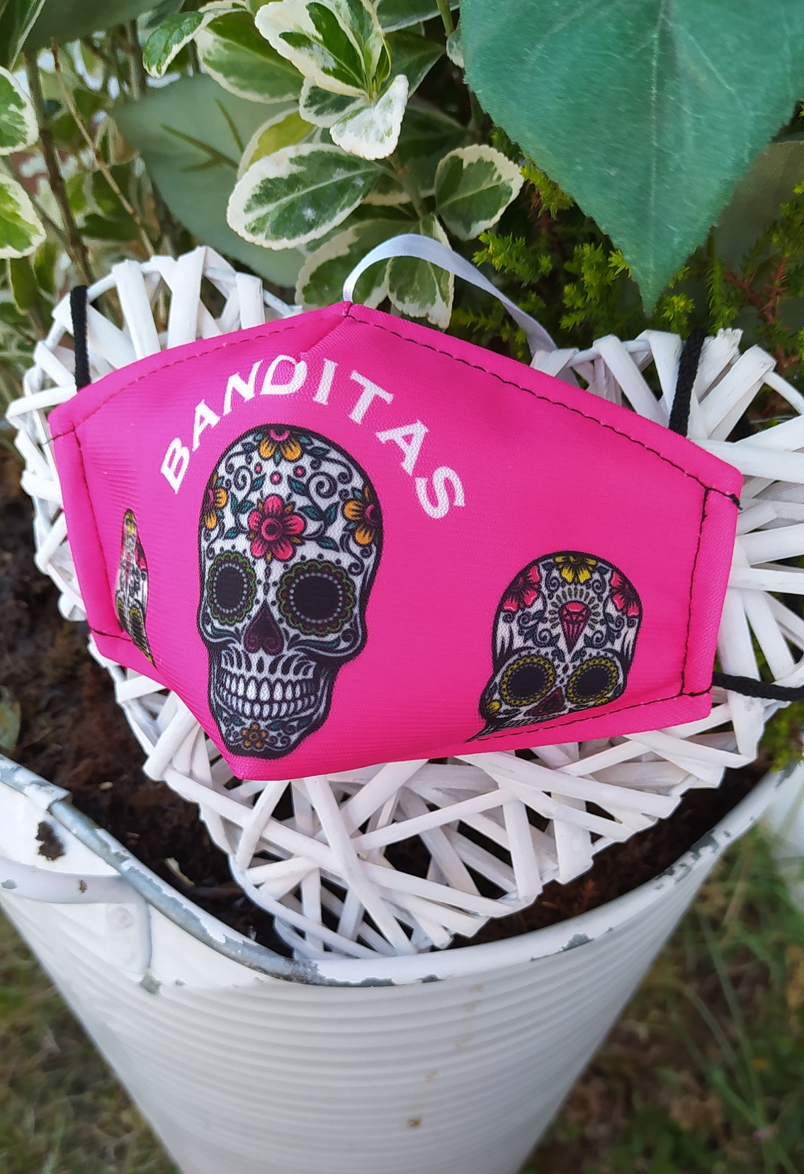Masque SKULL rose Banditas
