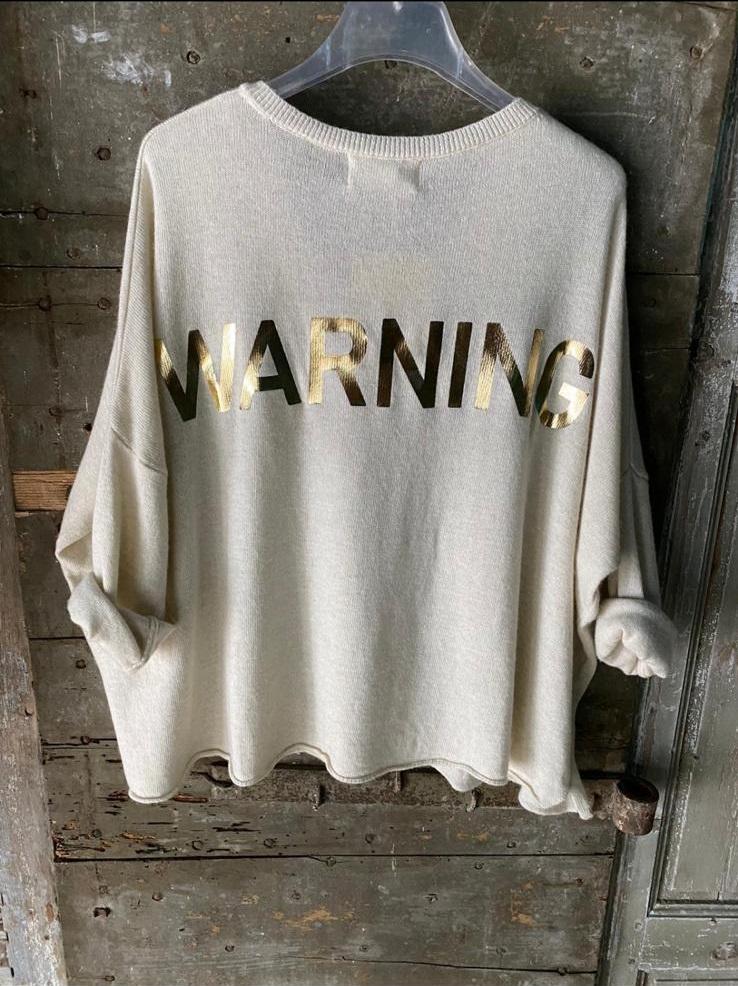 Pull DUDU WARNING BANDITAS beige